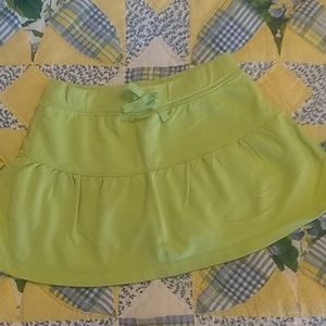 Free with $15 purchase! Cute lime green skort